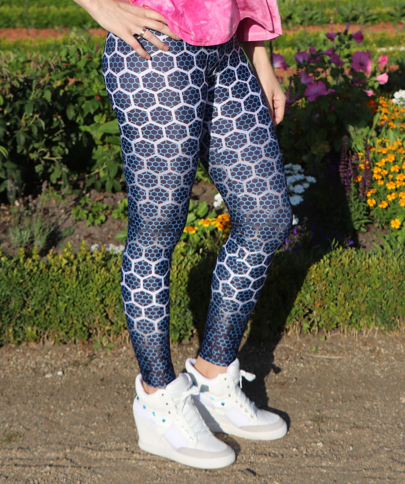 Leggings im Waben-Design